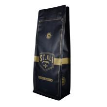 Custom Printed Coffee Rice Packaging Bag Zip-Lock Reusable Plastic Packaging Nut Zipper Aluminum Foil Plastic Coffee Packaging Bag
