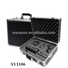caso de câmera de alumínio forte com espuma personalizado inserir atacado