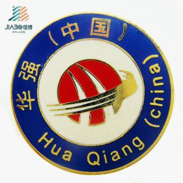 Wenzhou Jiabo 25mm morre os pinos feitos sob encomenda da lapela de Cloisonne do metal do logotipo do emblema do esmalte da carcaça