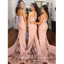 Wholesale Good Quality New Cheap Lace formal Beach pink wedding Bridesmaid Dresses Long LB43