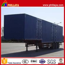3 Axles 60 Tons Gooseneck Box Truck Trailer