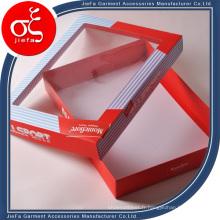 Boîte de papier d'emballage de cadeau adaptée aux besoins du client, boîtes d'habillement de sous-vêtements de femme