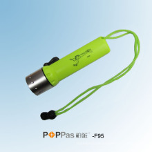 CREE Xr-E Q5 LED lanterna de mergulho Ipx8 (POPPAS-F95)