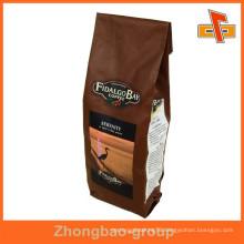 Guangzhou Plastic Aluminum Foil Coffee Gusset Foil Packaging Bag