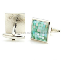 Metal Cuff Links with Crystal Stone