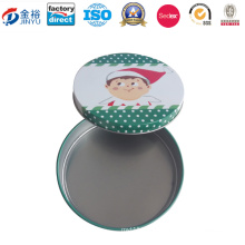 Snowman Printed Metal Storage Box for Promotion