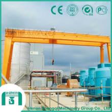 Grúa de pórtico de doble viga de aplicación industrial tipo Mg