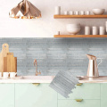 Carta da parati in vinile con backsplash 3D personalizzato peel and stick
