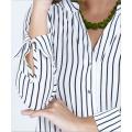 Custom women printed shirt long sleeve blouse