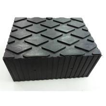 Almohadilla de bloque de goma con elevador de tijera