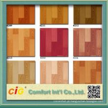 Teste padrão de madeira do PVC decoração revestimento