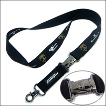 Custom Company Logo Nylon Imprinted Lanyards for Exhibition