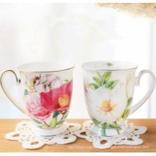 China Design Flor Casais Copo Copa de porcelana clássica Copa de cerâmica