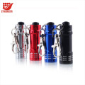LOGO Printed Mini Colorful LED Flashlights Torch Lights with Carabiner