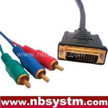 DVI zu 3 RCA Kabel