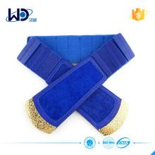 blue color elastic dress women belt