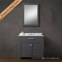 Modern Single Sink Bathroom Vanity with Grey Finish