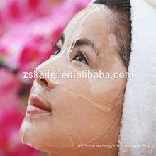 Máscara transparente de ácido hialurónico