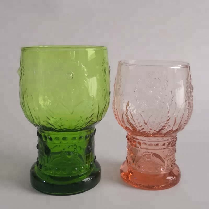 Br 8288 8289apple Green Color Sunflower Glass Water Tumbler