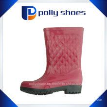 Red Portable Rubber Waterproof Rain Shoes