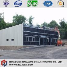 Tienda de hardware de estructura de acero móvil con techo plano