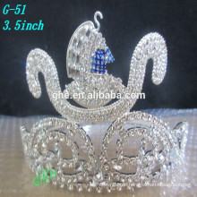 Kundenspezifische Kopfschmuck, Großhandel Schönheit Krone und Kopfschmuck König Mode Tiara Krone