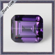 Venta al por mayor Grado Amatista Octagon Emerald Cut CZ Gemstone