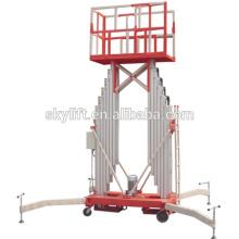 Mobile electric Double Column Aluminum Aerial Work Platform