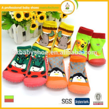 Fabricant 2015 vente chaude mignonne chaussettes bébé en gros comme une chaussure