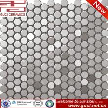 Telha de mosaico de aço inoxidável circular para o projeto da parede da cozinha