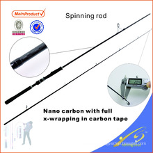 SPR116 245cm cheap fishing tackle carbon fiber fishing rod spinning