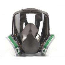 Máscara de proteção de filtro duplo Máscara respiratória facial inteira