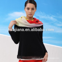 80% cashmere blended woman's knitting sweater