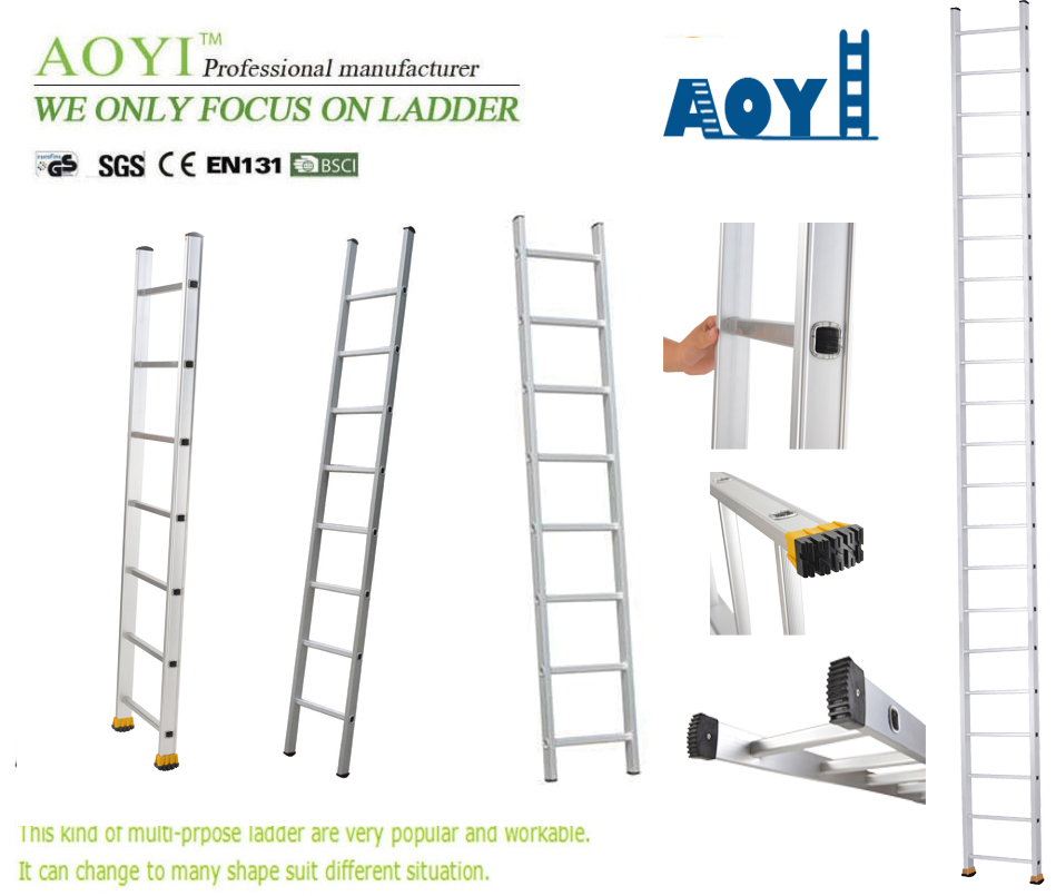 Aluminum single straight ladder