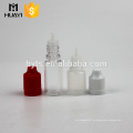 Botella líquida del dropper del líquido 5ml 10ml PET / botella plástica del PP con el casquillo a prueba de niños