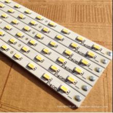5730 SMD 72LED / M tira rígida de LED 12V branco quente