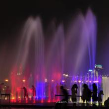 Освещенные уличные фонтаны