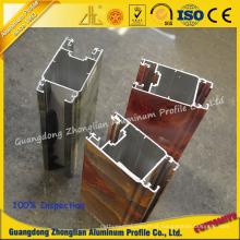 Perfil de alumínio personalizado fabricante de alumínio da extrusão com grão de mármore