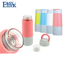 thermal glass double wall bpa free water bottle