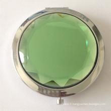 Miroir de poche en cristal clair en métal clair (BOX-18)