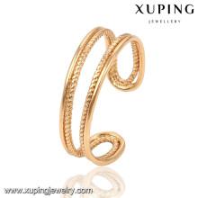 13787 xuping moda nuevo diseño oro señoras anillo de dedo sin piedra