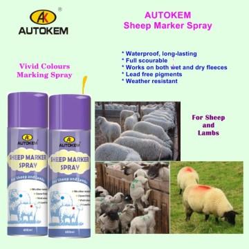 Peinture à l'épreuve des animaux, pulvérisateur de moutons, Peinture de marquage d'élevage