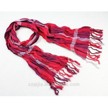 Bufanda 100% de las señoras de la bufanda de la tela escocesa del algodón