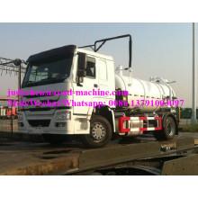 Caminhão de sucção de esgoto Sinotruk HOWO 10m3 / 12m3