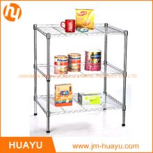 Durable Furniture 3 Tier Metal Wire Shelf Storage Shelving Rack