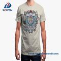 Bulk Custom Print Men Camiseta de alta calidad Basic Top Tee Green Camisetas