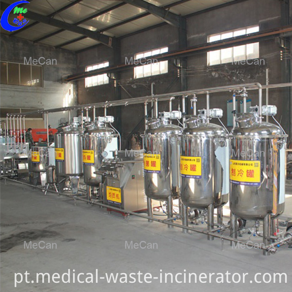 Milk pasteurization production line