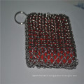 Chinese good supplier 304 316 316L stainless steel chainmail scrubber/cast iron cookware cleaner net