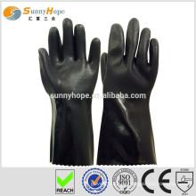 Sunnyhope PVC sandige Oberfläche Gummi beschichtete Handschuhe