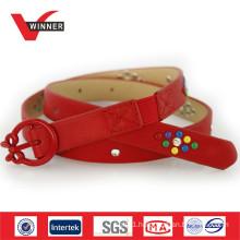 2014 Cute buckles red kids belts